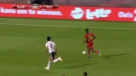 Belgio, il gol di Fellaini