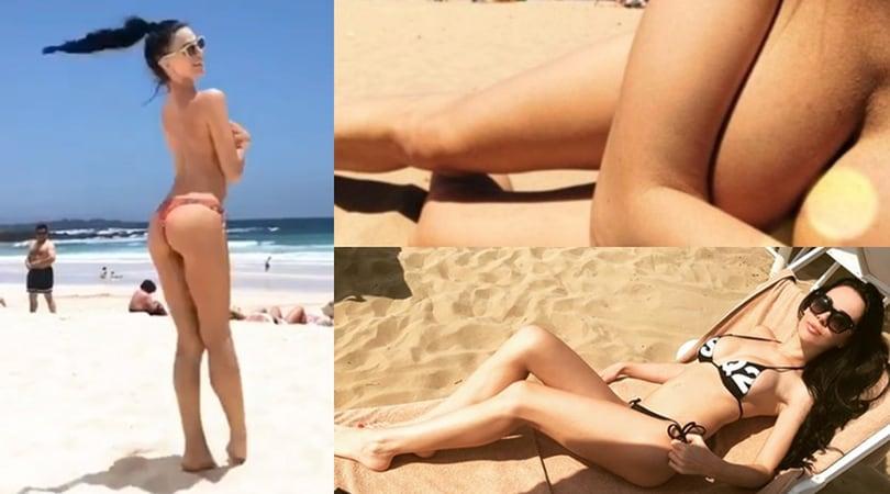 Erjona, l'ex di Dzemaili in topless alle Canarie