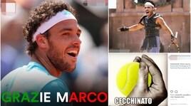 Roland Garros, l'Italia ringrazia Cecchinato sui social: «Ci vediamo a Wimbledon»