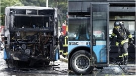 Roma, altro autobus in fiamme in centro città