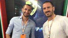 F1, Chiellini e Bonucci ai box della Ferrari