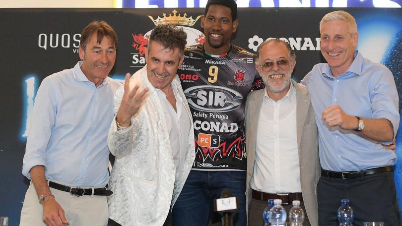 Volley: Superlega, che festa a Perugia per l'arrivo di Leon