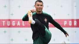 Cristiano Ronaldo, primo allenamento in Russia