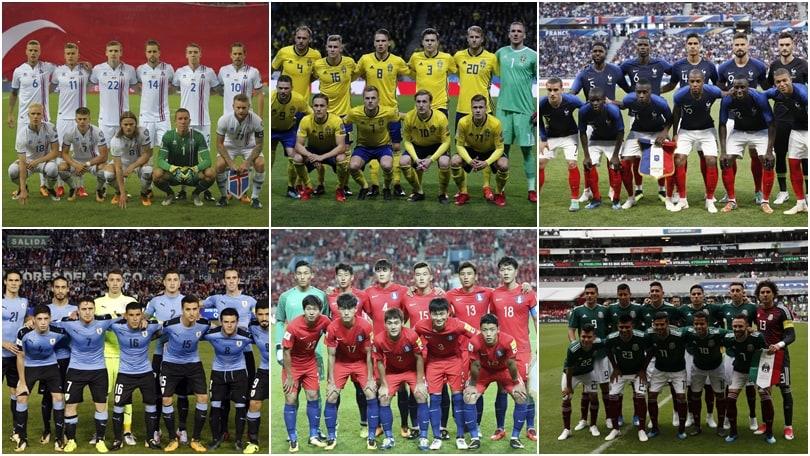 Russia 2018: tutte le nazionali partecipanti