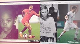 Il Portogallo colpisce al cuore i giocatori con una foto emozionale