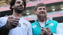 Salah insieme al leader cecenoKadyrov