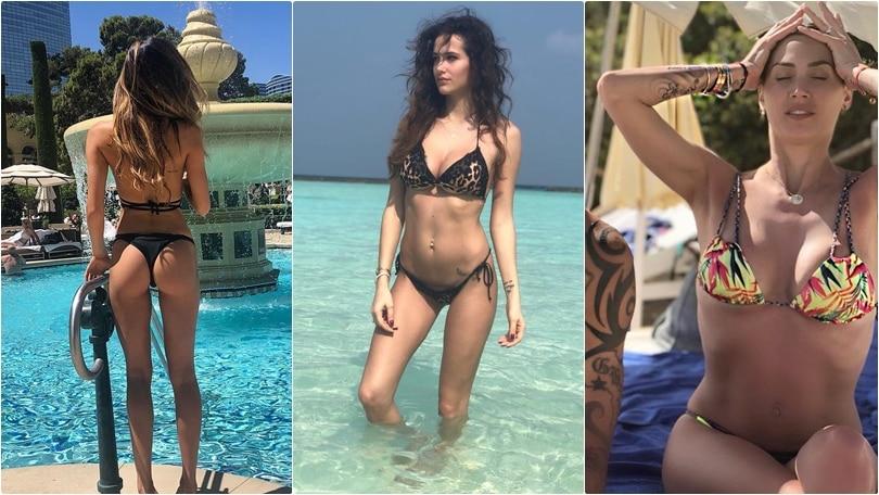 Da Wanda a Melissa: le wags in bikini scaldano l'estate