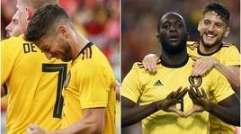Belgio-Costa Rica: 4-1 show di Mertens e Lukaku