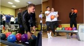 L'Inghilterra si allena...a bowling