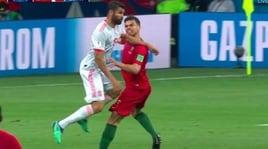 Portogallo-Spagna, Diego Costa in gol ma Pepe protesta