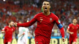 Portogallo-Spagna 3-3: Ronaldo, tripletta mundial