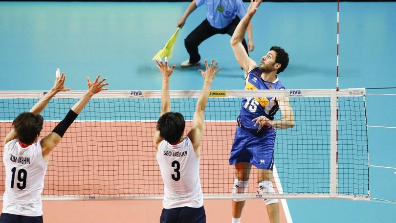 Volley: Volleyball Nations League, l'Italia batte la Corea ma quanti patemi !