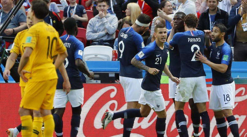 Gruppo C, Francia-Australia 2-1: gollonzo di Pogba, tre punti a Deschamps