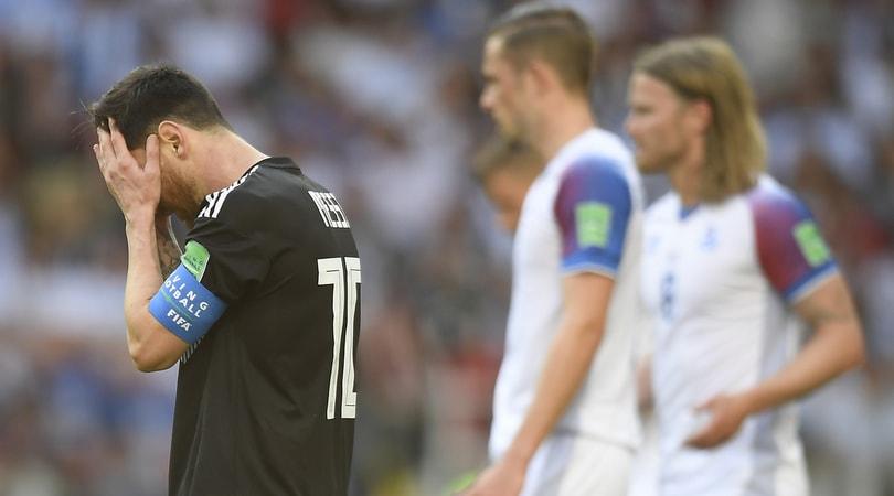 Argentina-Islanda 1-1: Aguero non basta, Messi sbaglia rigore
