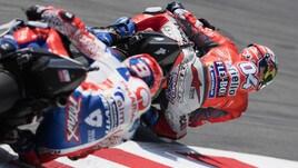 MotoGp Catalogna: Dovizioso davanti a tutti nel warmp up, Rossi 3°