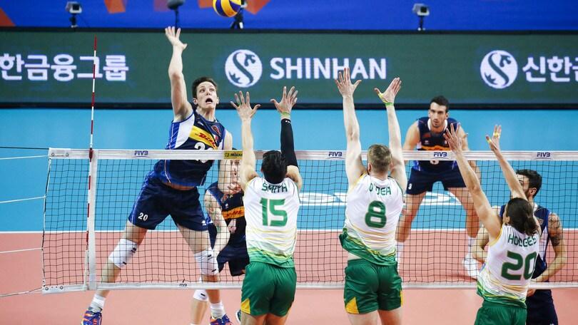 Volley: Volleyball Nations League, gli azzurri si arrendono all'Australia