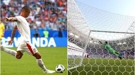 La punizione di Kolarov contro la Costa-Rica