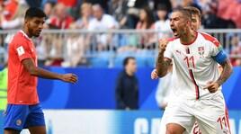 Costa Rica-Serbia 0-1: decisivo Kolarov. Milinkovic-Savic, che rovesciata!