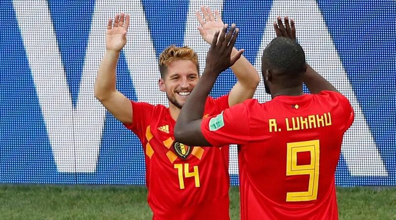 Belgio-Panama 3-0: Mertens gol mundial, Lukaku ne fa 2
