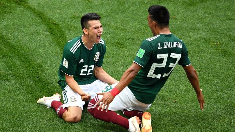 Mondiali 2018, Lozano goleador del Messico a 2,25