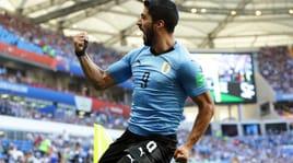 Uruguay-Arabia Saudita 1-0, zampata di Suarez e Tabarez vola agli ottavi
