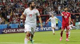 Mondiali 2018, Iran-Spagna 0-1: basta un gol di Diego Costa