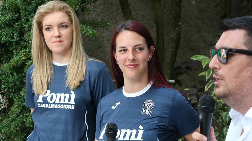 Volley: A1 Femminile, Casalmaggiore ha presentato Kakolewska e Mio Bertolo