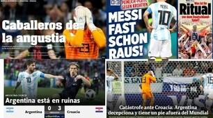 Argentina, il crollo sui media mondiali: «Che catastrofe, Messi quasi fuori»