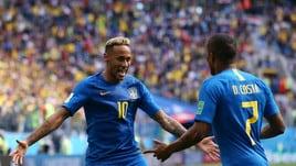 Mondiali 2018, Brasile-Costa Rica 2-0: decidono Coutinho e Neymar