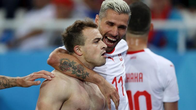Serbia-Svizzera 1-2: Xhaka e Shaqiri firmano la rimonta
