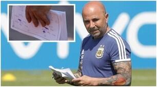 Argentina, ecco cosa c'è sul taccuino di Sampaoli