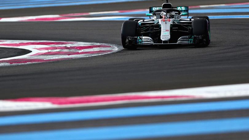 F1, griglia di partenza Gp Francia: Hamilton in pole, Vettel 3°