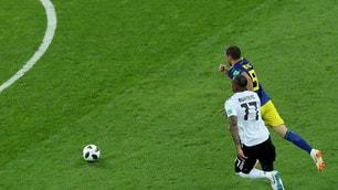 Germania-Svezia: contatto Boateng-Berg, per l'arbitro non è rigore