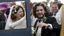Game of Thrones, il matrimonio di Kit Harington e Rose Leslie sposi