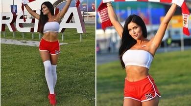 Polonia, la tifosa incanta tutti fuori dallo stadio