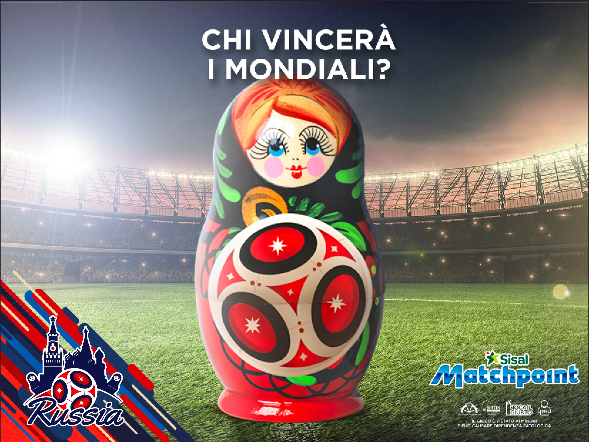 Mondiali 2018: oltre 1000 le Scommesse On Demand su Sisal Matchpoint