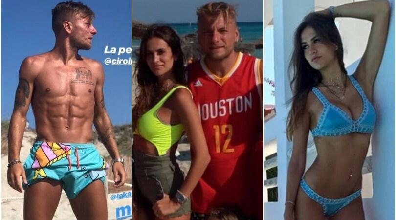 La famiglia Immobile a Formentera, ma spunta una maglia... giallorossa