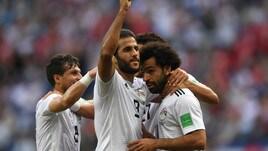 Mondiali 2018, Arabia Saudita-Egitto: Salah a segno