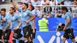 Mondiali 2018, Uruguay-Russia 3-0; Arabia Saudita-Egitto 2-1