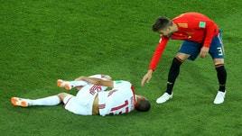 Spagna-Marocco, l'intervento di Piqué su Boutaib