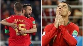 Mondiali 2018: Iran-Portogallo 1-1, Spagna-Marocco 2-2