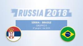 Serbia - Brasile, il testa a testa