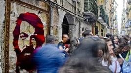 Napoli, murales di Bud Spencer nei Quartieri Spagnoli