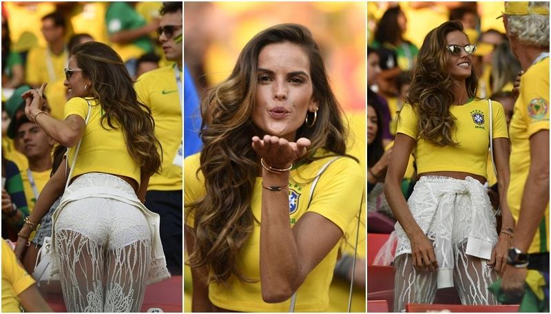 Brasile, show di Izabel Goulart sugli spalti <div>&nbsp;</div>
