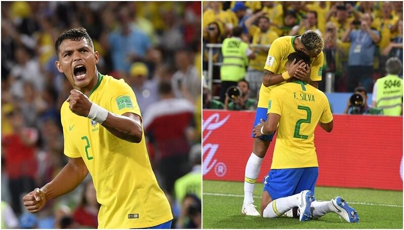 Brasile, Thiago Silva segna e si riappacifica con Neymar
