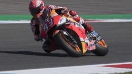 MotoGp Olanda, Libere 4: fulmine Marquez, Rossi 11°