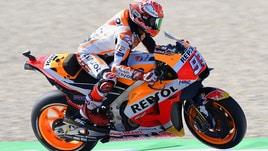 MotoGp Olanda, griglia di partenza: Marquez in pole, Rossi 3°