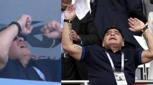 Francia-Argentina, altro show irrefrenabile di Maradona