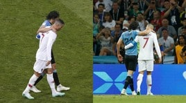 Fair play Ronaldo: sorregge Cavani infortunato