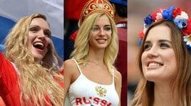 Spagna-Russia, le tifose danno spettacolo in tribuna